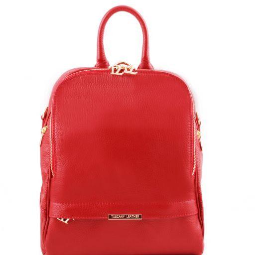 TL Bag Zaino donna in pelle morbida Rosso TL141509