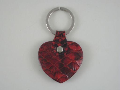 Esclusivo portachiavi in pitone Rosso TL140821