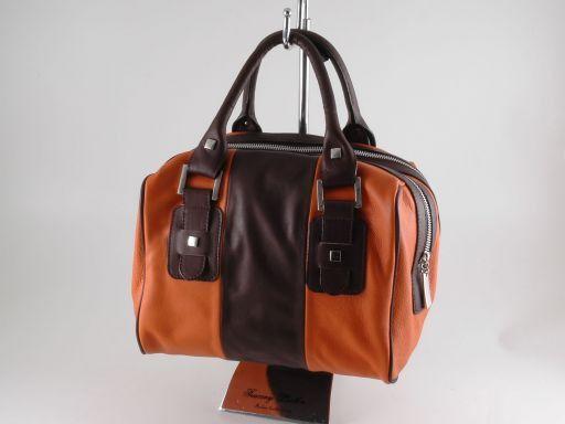Asia Leather handbag Orange TL140822