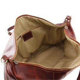 Amsterdam Дорожная кожаная сумка weekender Темно-коричневый TL1049
