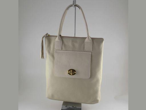 Beatrice Borsa shopping in pelle da donna Beige TL140827