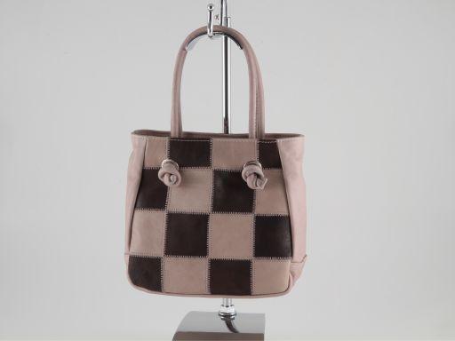Allegra Kleine Handtasche aus Kalbsleder Dunkel Taupe TL140851