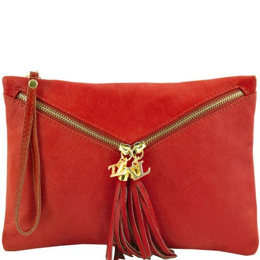 Audrey Pochette in pelle Rosso TL140988
