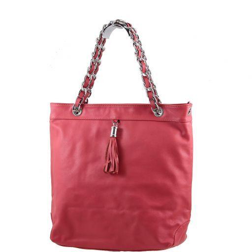 Carolina Borsa Shopper in pelle nappata Rosso TL140880