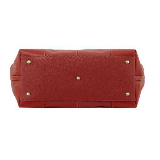 Ambrosia Soft leather shopping bag with shoulder strap Красный TL141516