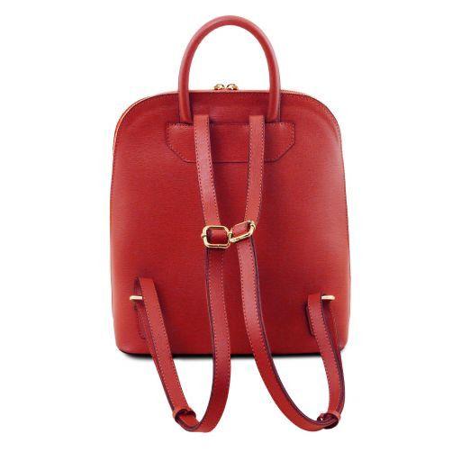 TL Bag Damenrucksack aus Saffiano Leder Rot TL141631