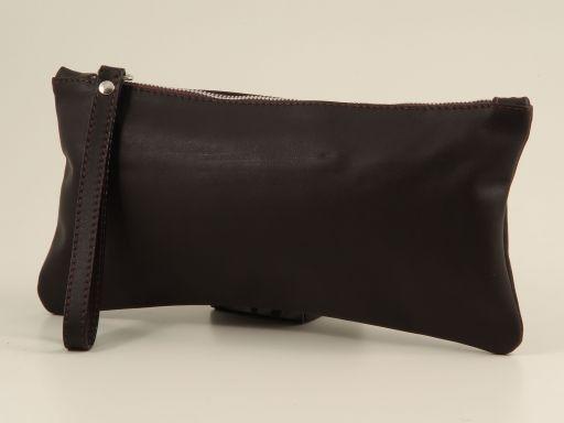 Busta portafogli donna in nappa Testa di Moro TL140887