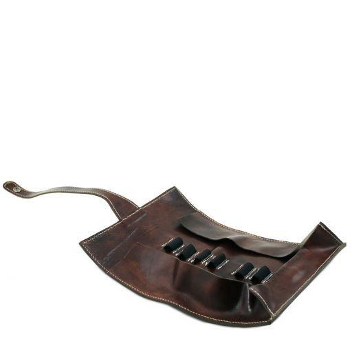 Exclusif étui pour stylos en cuir Marron foncé TL141620