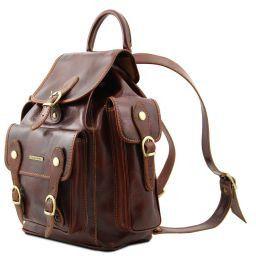 Trekker Ensemble de voyage sacs à dos en cuir Marron TL90173