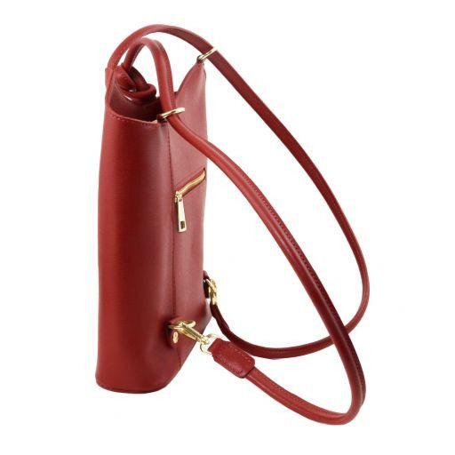 Patty Saffiano leather convertible bag Красный TL141455