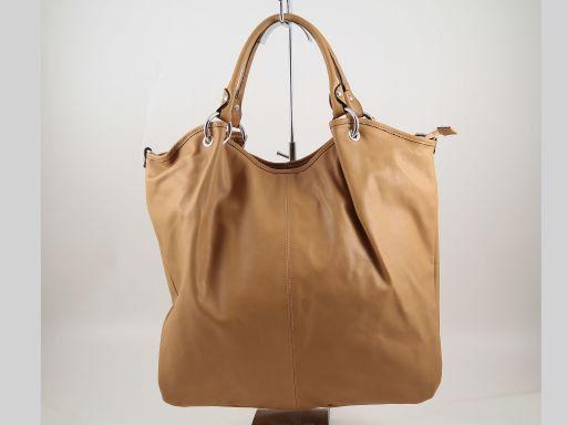 Nina Stylischer Shopper aus Nappaleder Cognac TL140893