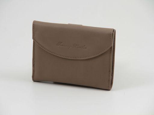 Esclusivo portafogli in pelle nappata Talpa scuro TL140902