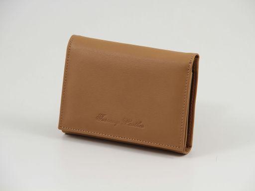 Esclusivo portafogli in pelle nappata Cognac TL140906