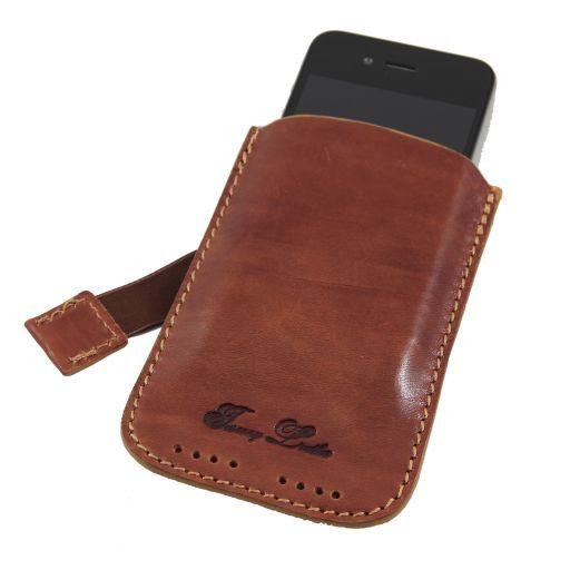 Leather iPhone3 iPhone4/4s holder Мед TL140927