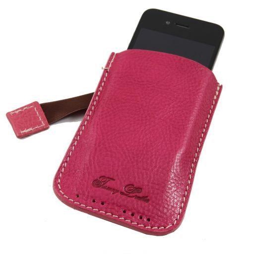 Sacoche pour iPhone3 iPhone4/4s en cuir Fuchsia TL140927