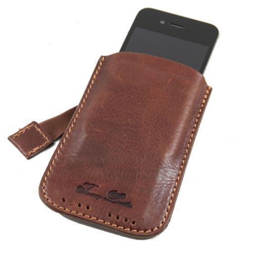 Esclusivo porta iPhone3 iPhone4/4s in pelle Marrone TL140927