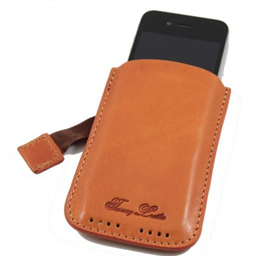 Leather iPhone3 iPhone4/4s holder Orange TL140927