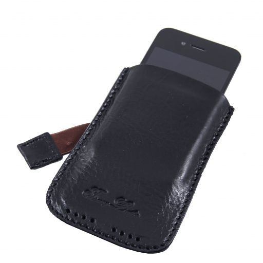 Esclusivo porta iPhone3 iPhone4/4s in pelle Blu TL140927