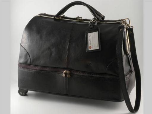 Santo Domingo Trolley - Ledertasche Schwarz TL1064