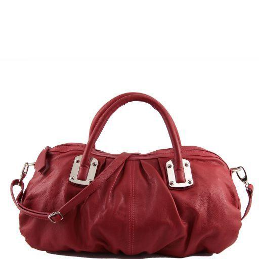 Nora Leather mini duffle for women Красный TL140934