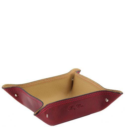 Esclusivo vuotatasche in pelle Rosso TL140982