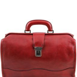 Raffaello Doctor leather bag Red TL10077