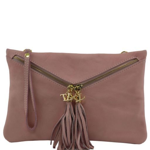 Audrey Leather clutch Pink TL140988