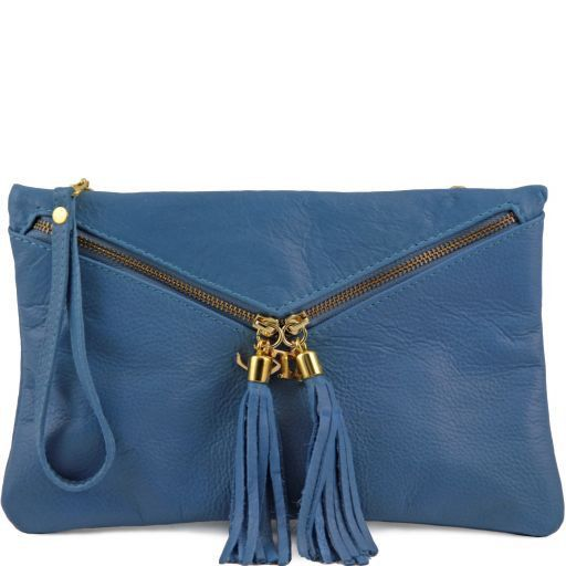 Audrey Pochette in pelle Azzurro TL140988