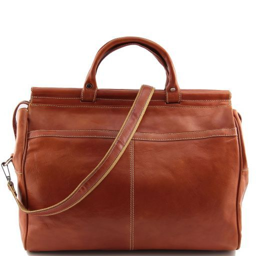 Manchester Weekend Travel leather bag - Small size Мед TL141002