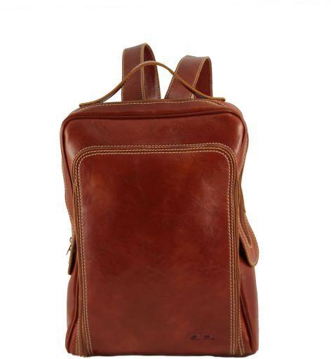 Bangkok Zaino portanotebook in pelle Miele TL141063
