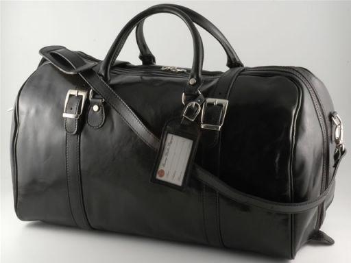 Berlin Travel leather bag - Large size Black TL141065