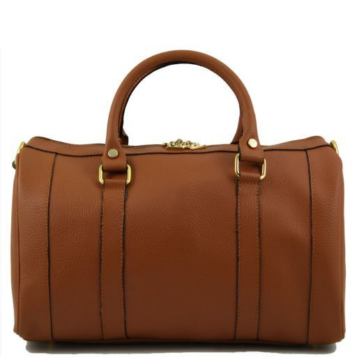 TL Bag Bauletto medio in pelle Cognac TL141079