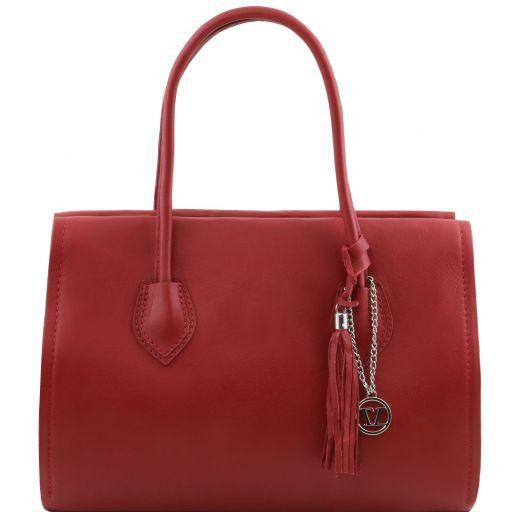 TL Bag Borsa morbida con nappa e tracolla Rosso TL141091