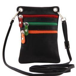 TL Bag Soft leather mini cross bag Black TL141094