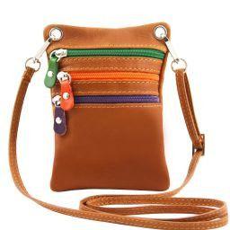 TL Bag Bolsillo unisex en piel suave Cognac TL141094