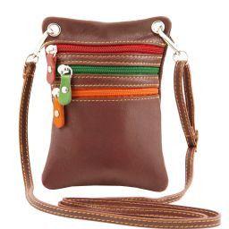 TL Bag Mini Schultertasche aus weichem Leder Braun TL141094