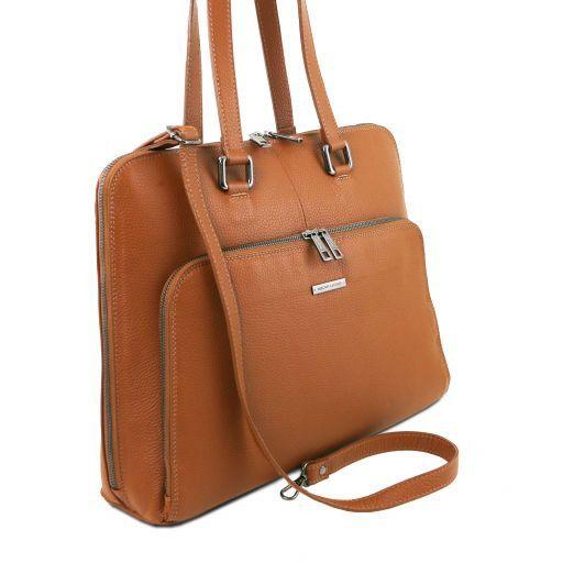 Lucca Borsa business TL SMART in pelle morbida per donna Cognac TL141630