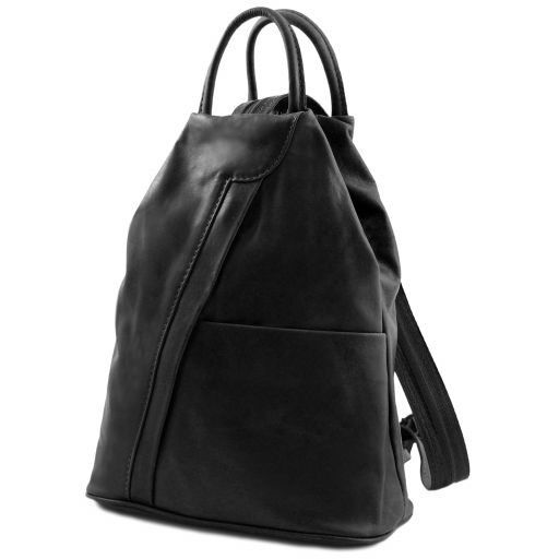 Shanghai Рюкзак из мягкой кожи Черный TL140963