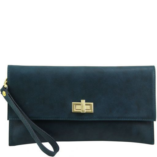 TL Bag Leather clutch Teal TL141109