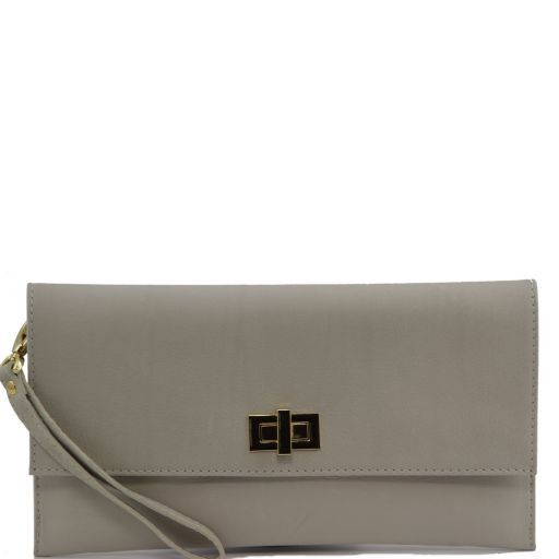 TL Bag Leather clutch Beige TL141109