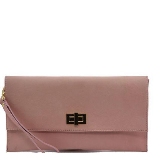 TL Bag Clutch aus Leder Rosa TL141109