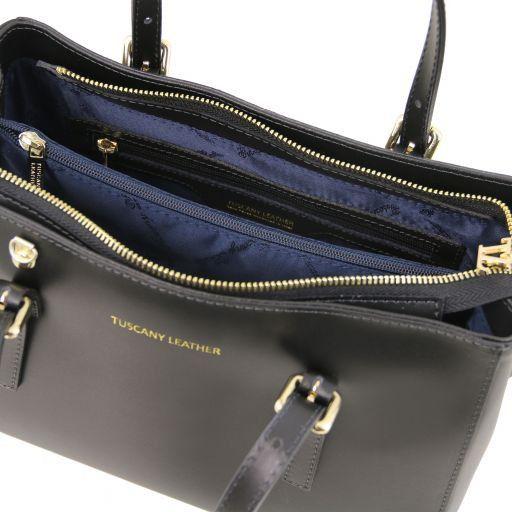Aura Handtasche aus Leder Schwarz TL141434