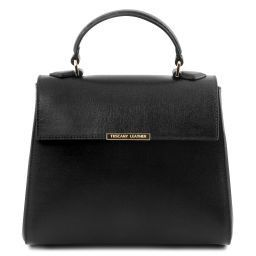 TL Bag Bauletto piccolo in pelle Saffiano Nero TL141628