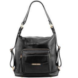 TL Bag Leather convertible bag Black TL141535