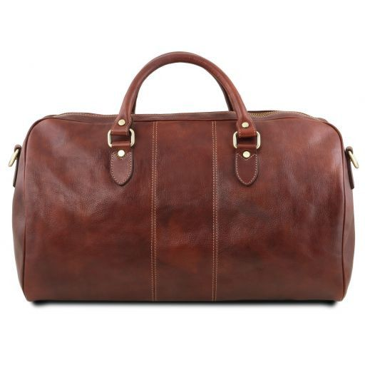 Lisbona Travel leather duffle bag - Large size Brown TL141657
