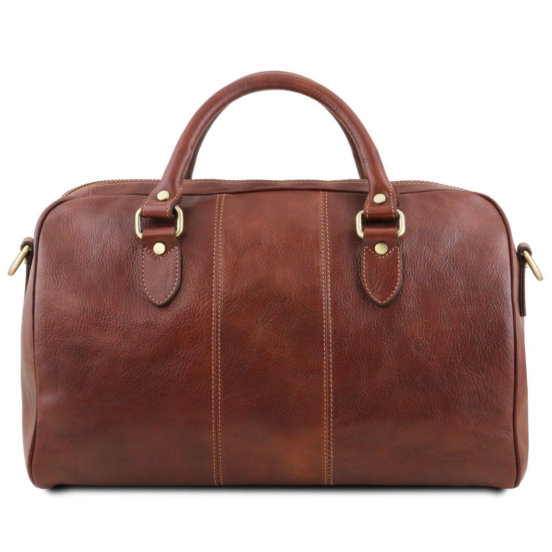 Tuscany Leather Lisbona Sac de voyage en cuir - Petit modèle Marron Xd0iu