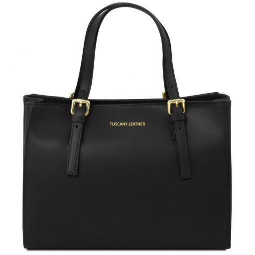 Aura Leather handbag Черный TL141434