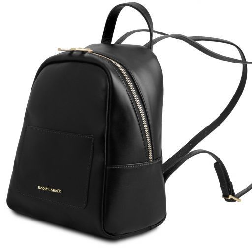 TL Bag Zaino piccolo in pelle da donna Nero TL141614