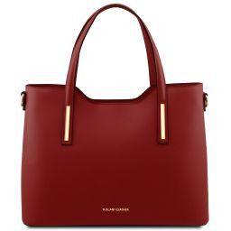 Olimpia Borsa shopper in pelle Rosso TL141412