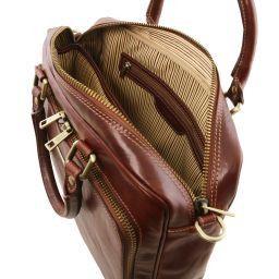 Pisa Cartella in pelle porta notebook con tasca frontale Testa di Moro TL141660